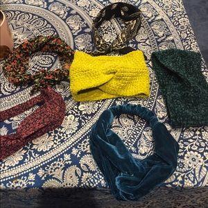 6 headbands/ head wraps